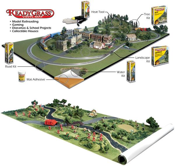 Landscape base : Artificial grass ReadyGrass Vinyl Mat - Woodland