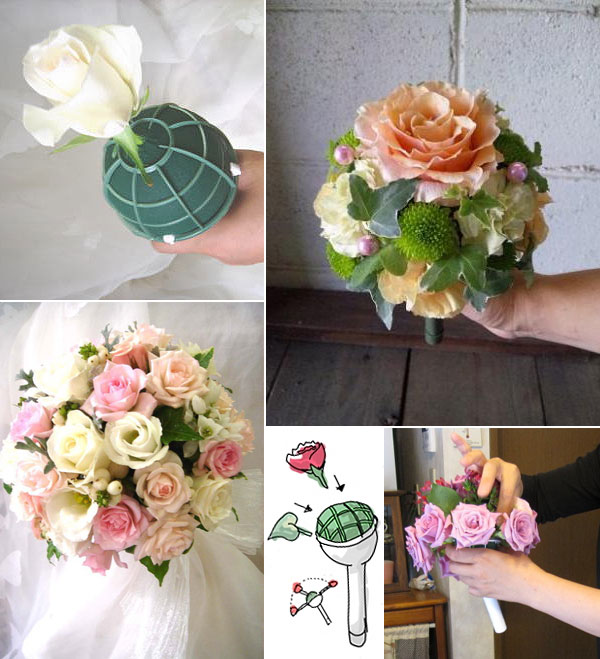 Bouquet Holder with Foam