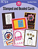 Book Stamped and Beaded Cards (English) /1pc