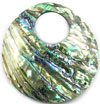 Shell (PAUA) Donut #A1 mix-rainbow  / 1pc