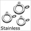 Stainless steel spring ring (hikiwa) /1pc