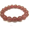 Strawberry Quartz bracelet 8mm /1pc