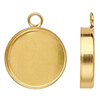 K12 (GF) Gold filled Cabochon setting Round / 1pc