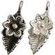 Silver 925 Charm Leaf Flower / 1pc