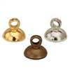 Metal Pendant parts - Glass dome cap / 4pcs
