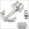 Metal end parts ( Hook & Ring ) 5mm/ 1set