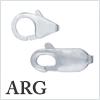 Argentium Silver Lobster hook (kanikan) /1pc