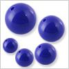 Lapis (neri) 1 hole Round ball ( half drilled ) / 1pc