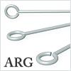 Argentium Silver 9 pin (Eye pin) 0.76mm / 5pcs