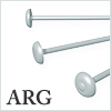 Argentium Silver T pin : 0.76mm / 5pcs