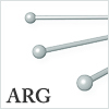 Argentium Silver Ball pin : 0.76mm / 5pcs