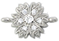 Silver 925 link flower / 1pc