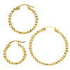 K14 (GF) gold filled Bead Hoop pierce/1 pair
