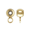 K14 (GF) gold filled bead stopper, round with Ring / 1pc