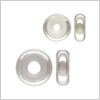 Silver 925 bead stopper, Button / 1pc