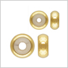 K14 (GF) gold filled bead stopper, Button / 1pc