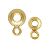 K14 (GF) gold filled bead with closed jump ring / 1pc