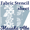 Stencil sheet for Fabric and Leather (Masako Abe)