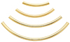K14 (GF) Gold filled Curved seamless Tube /1pc