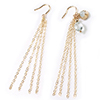 K14 (GF) gold filled Chain fringe earrings   /1 pair