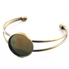Metal Cabochon Bracelet / 1pc
