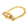 K14 (GF) Gold filled Magnet clasp with Flat Cable Chain /1pc