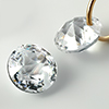 CZ Cubic zirconia Double Rose-Cut Round with hole /1pc