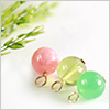 K14 (GF) Gold filled Stone Charm Link / 1pc