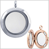 Stainless Steel Round Floating Glass Locket Pendant /1pc