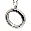 Stainless Steel Round Floating Glass Locket Pendant ( Screw type ) / 1 pc