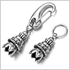 Stainless steel snap hook Antique style / 1set