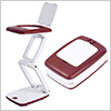 Foldable Magnifier with LED light (color:Red) / 1pc