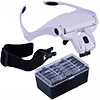 Magnifier with 2 LED and Interchangeable 5 Pcs Lenses / 1 set
