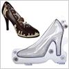 Chocolate 3D Mold High Heel / 1 set