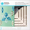 Paper craft :Martha Stewart Template Ornament Triangle Small / 1set