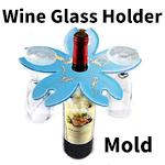 Wine glass holder mold /1pc