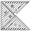 Creative Grids: 6in Flying Geese & 45 90 Degree Triangle Quilt Ruler  /1pc