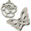 Stainless steel Charm Flower / 1pc