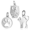 Stainless steel Charm Animal / 1pc