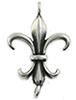 Stainless Steel Link Fleur de lis/ 1 pc