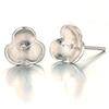Silver 925 pierce parts Flower / pair