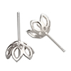 Silver 925 pierce parts Flower / pair