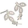 Silver 925 pierce parts Leaf / pair