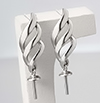 Silver 925 pierce parts Drop/ pair