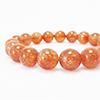Sun Stone (Natural) round bracelet / 1pc