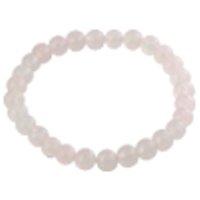 Rose quartz bracelet round 6mm /1pc