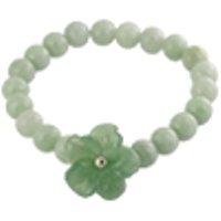 Jadeite Jade bracelet round 8mm with flower /1pc