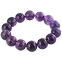 Amethyst bracelet round /1pc