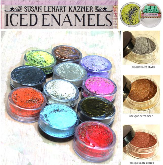 .25oz Iced Enamels relique powder Gold Glitz