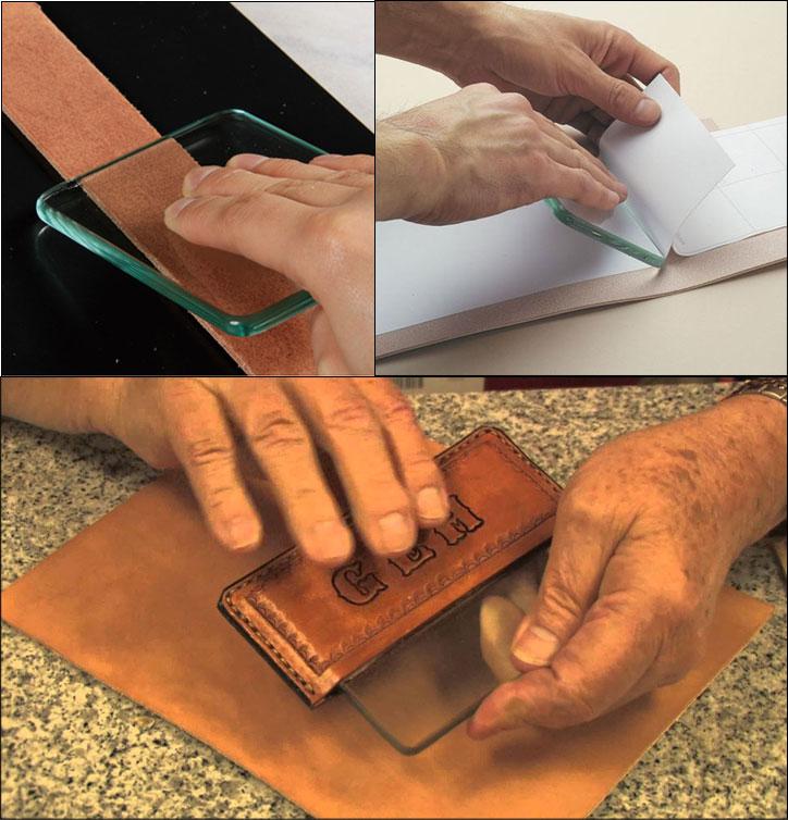 12cm x 9cm x 0.8cm Leathercraft Glass Slicker /& Burnisher for Smoothing Leather